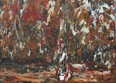 """ Gitane "" - Huile 2016 - 33 x 26 cm"