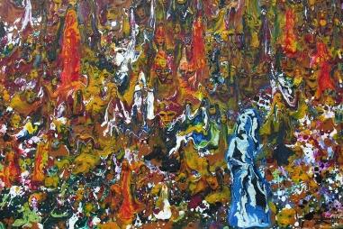 """"""" Ailé Mental """" - Huile 2016 - 46 x 33 cm"""