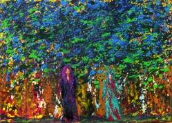 """"""" Belles des Bois """" - Huile 2016 46 x 33 cm"""
