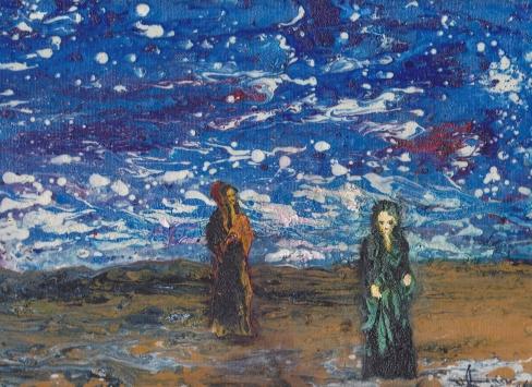 """ L'Adieu"" - Huile 2016 - 33 x 16 cm"