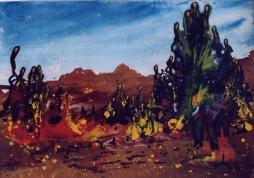 """"""" Sanglier à l'aube"""" - Huile 1998"""